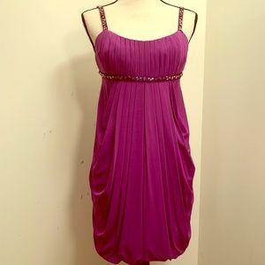 Purple Beaded BCBG Maxazria Dress